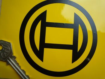 "Bosch Magneto Logo Cut Vinyl Stickers. 4"" Pair."