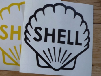 """Shell Classic Style Cut Vinyl Outline Sticker. 9"""" or 12""""."""