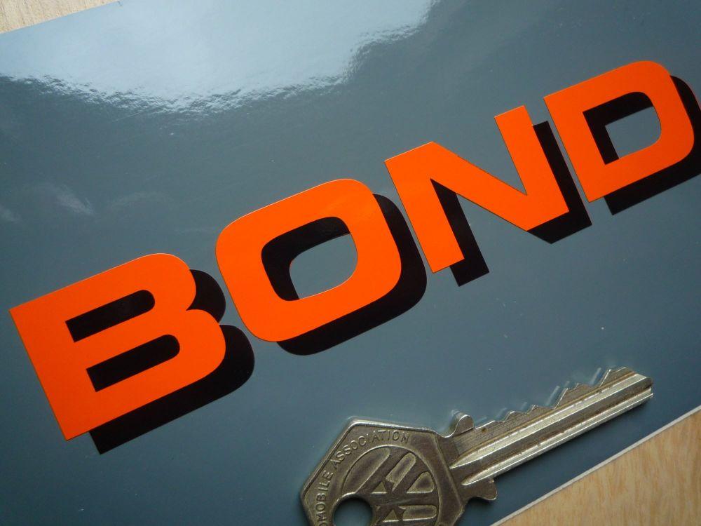 Bond Shadow Style Cut Text Sticker. 125mm.
