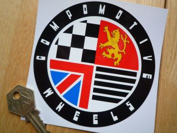 Compomotive Wheels Coloured Circular Stickers. 105mm.