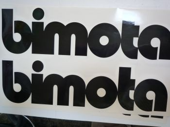 "Bimota Motorcycles Cut Text Sticker. 11""."