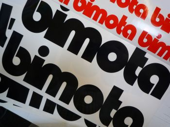 "Bimota Motorcycles Cut Text Sticker. 17""."