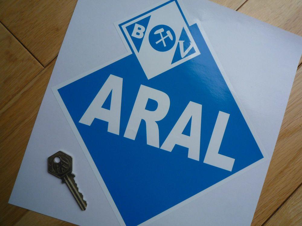 """Aral German Petrol Gas Fuel Sticker. BMW CSL 20-02 Turbo. 10"""" or 12""""."""