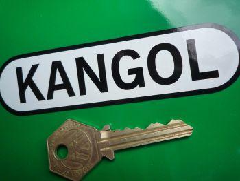 "Kangol Helmets Oval Shaped Sticker. 4.5""."
