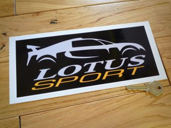 "Lotus Sport Oblong Sticker. 9.5""."