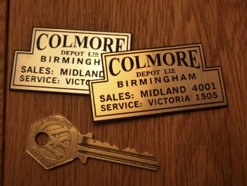"Colmore Depot Dealer Self Adhesive Car Badge. 2.5""."