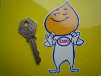 "Esso 'Smug' Oil Drip Boy Le Mans 24 Hour Car Scooter Motorcycle Sticker. 4""."