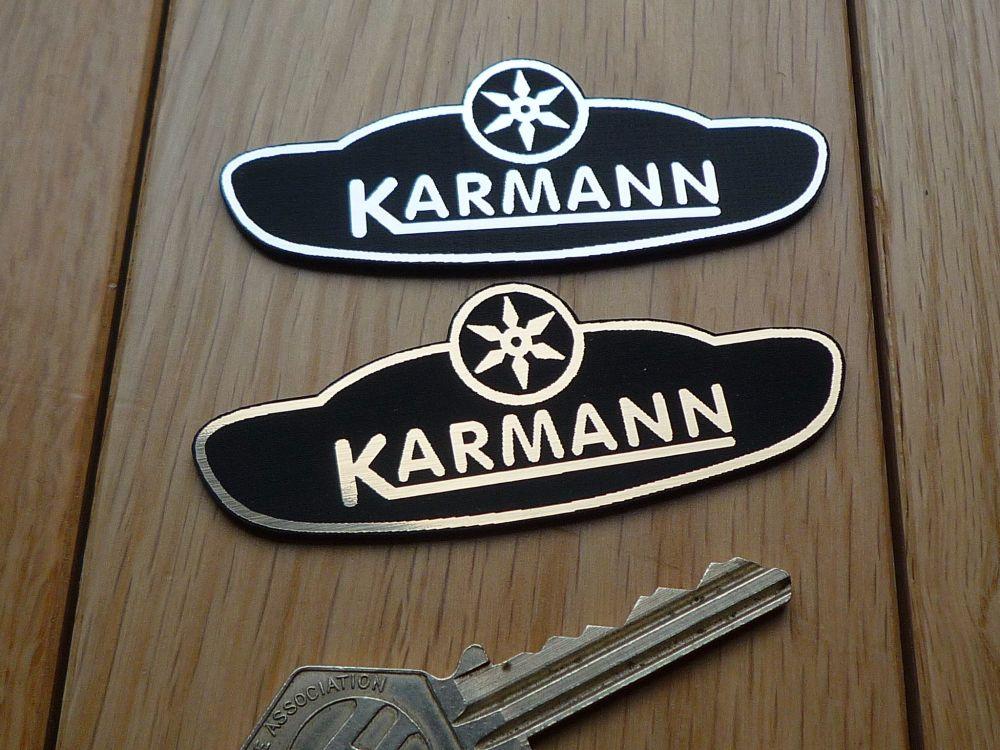 Karmann Logo Laser Cut Self Adhesive Car Badge. 3