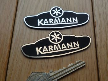 "Karmann Logo Laser Cut Self Adhesive Car Badge. 3""."
