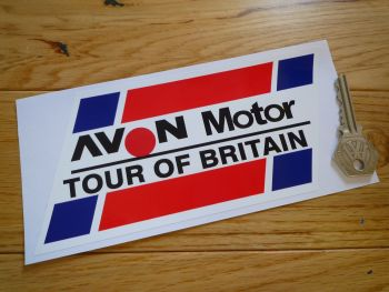 "Avon Motor Tour of Britain Sticker. 7""."