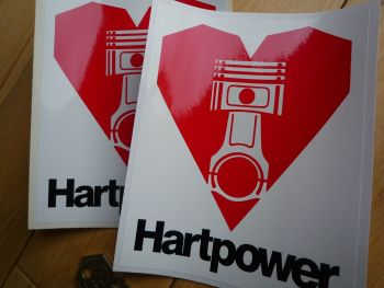 "Hartpower Black Text Car Stickers 5.5"" Pair"