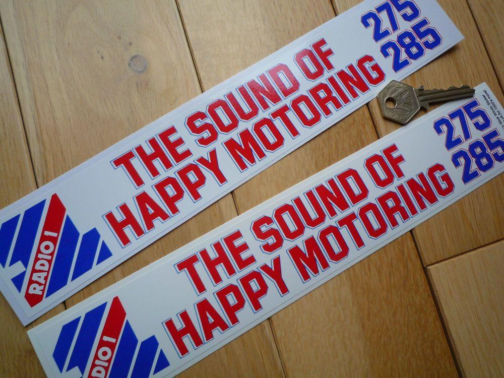"BBC Radio 1 ""The Sound of Happy Motoring"" Sticker. 11""."
