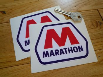 "Marathon M Stickers. 4"" Pair."