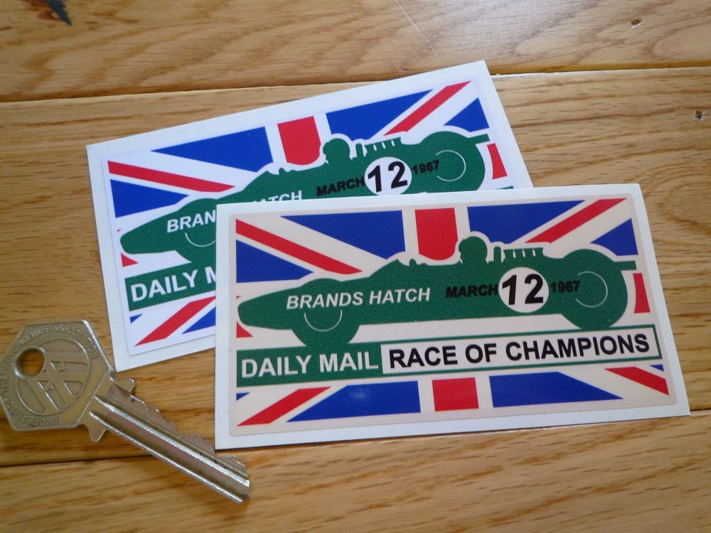 "Brands Hatch 1967 Race of Champions Sticker. 4""."