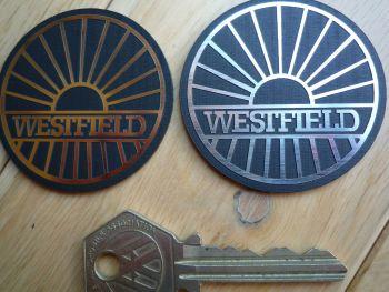 "Westfield Logo Style Self Adhesive Laser Car Badge. 1"" or 2""."