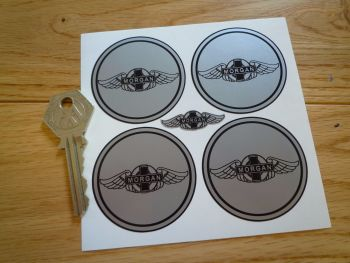 Morgan Winged Logo Wheel Centre Stickers. Set of 4. 50mm.