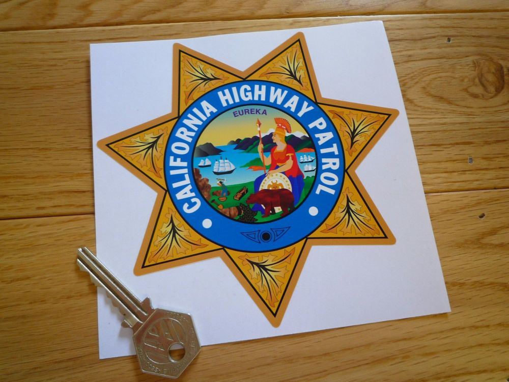 California Highway Patrol Star Shield Car Sticker. 5