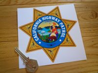 "California Highway Patrol Star Shield Car Sticker. 5""."