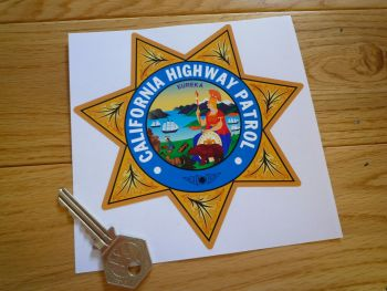 "California Highway Patrol Star Shield Car Sticker. 5""."