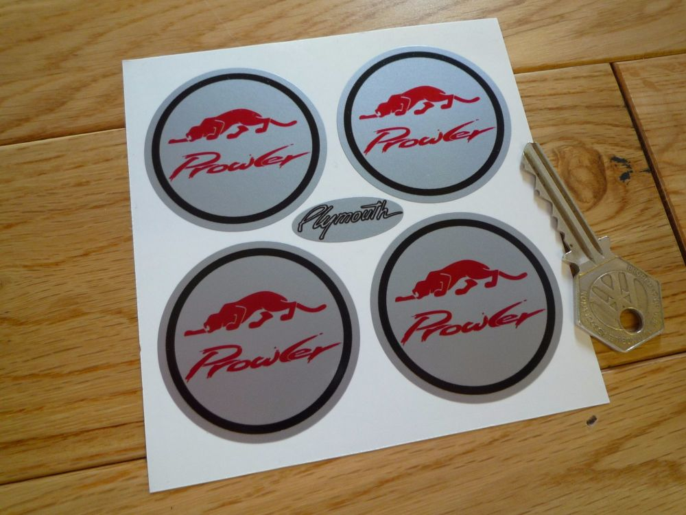 Plymouth Prowler Wheel Centre Style Stickers. Set of 4. 50mm.