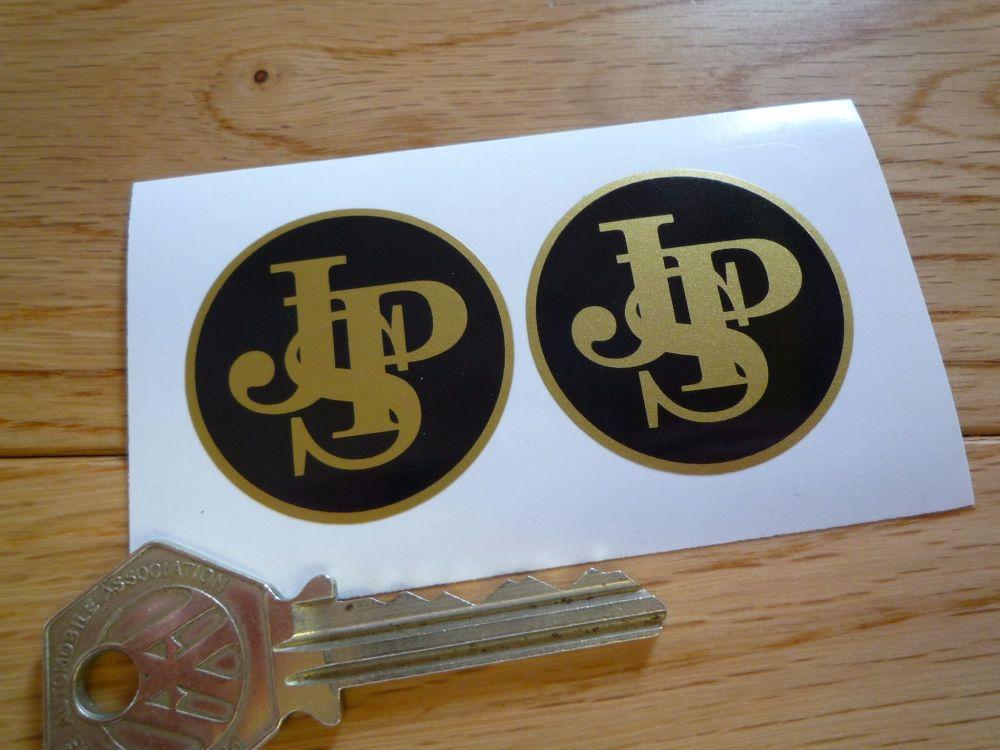 John Player Special Plain Circular Logo Stickers. 34mm or 37mm Pair.