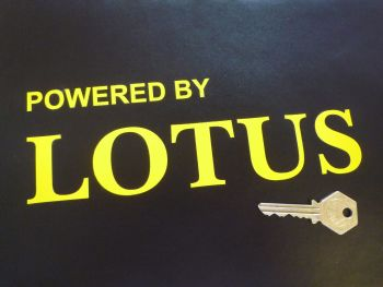 "Powered By Lotus Cut Vinyl Sticker. 8.5""."
