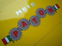 "Paton Motorcycle  Stickers. 4"", 6"" or 8"" Pair."