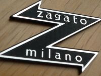 "Zagato Milano Style Laser Cut Self Adhesive Body Badge. 1.5""."