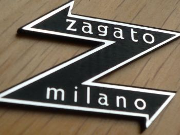 "Zagato Milano Style Laser Cut Self Adhesive Body Badge. 1.5""."