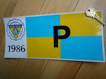 "24 Heures Du Mans LeMans Le Mans 1968 or 1986 Prototype P Class Sticker. 12""."
