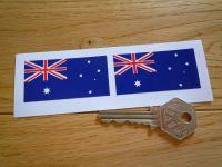 Australian Flag Oblong Stickers. 56mm Pair.