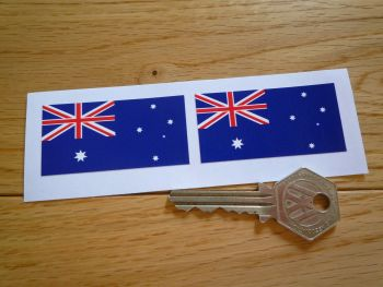Australian Flag Oblong Stickers. 56mm Pair.