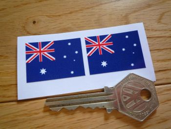 Australian Flag Oblong Stickers. 33mm Pair.