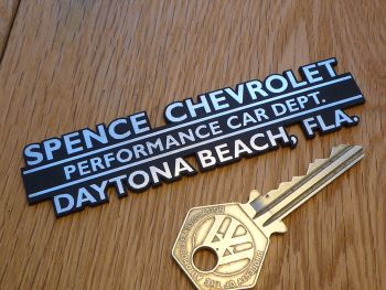 "Spence Chevrolet, Daytona Beach, Dealer Self Adhesive Car Badge. 4""."