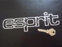 """Lotus Esprit Outline Style Cut Text Sticker. 8""""."""