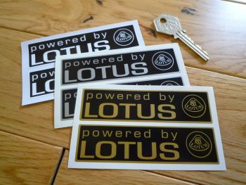 "Powered By Lotus Oblong Stickers. 4"" Pair."