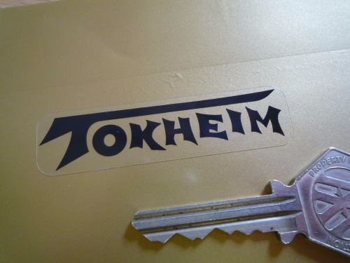 Tokheim Black & Clear Text Stickers. 65mm Pair.