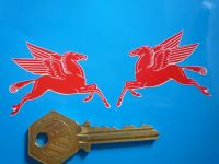 Mobil Earlier Pegasus Shaped Stickers. 2