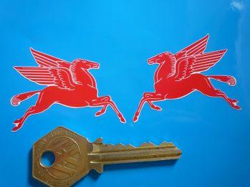 "Mobil Earlier Pegasus Shaped Stickers. 2"", 4"", 8"" or 10"" Pair."