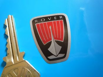 "Rover Last Generation Shield Shaped Stickers. Set of 4. 1.5""."