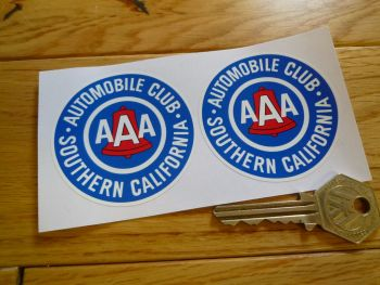 "AAA Automobile Club Southern California Sticker. 2.25"" Pair."