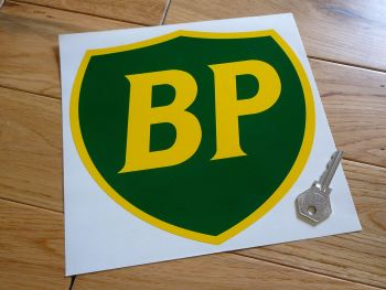 "BP '89 & On Shield Large Sticker. 8""."