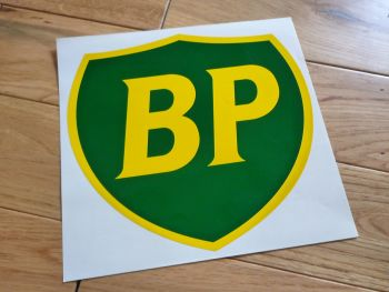 "BP '89 & On Shield Large Sticker. 9"", 10"" or 12""."