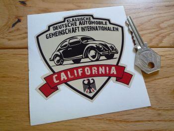 "German Classic Automobile Association International California Sticker. 3.5""."
