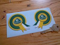 Lotus Rosette Stickers. 2.75