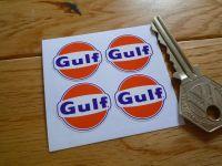 Gulf Logo Stickers. Set of 4.  25mm.