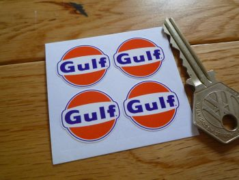 Gulf Logo Stickers. Set of 4.  25mm.