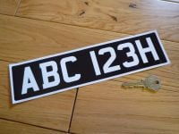 Printed Straight Front Scooter or Motorcycle Number Plate Sticker. 300mm.
