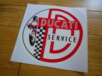 "Ducati Circular Service Sticker. 20""."
