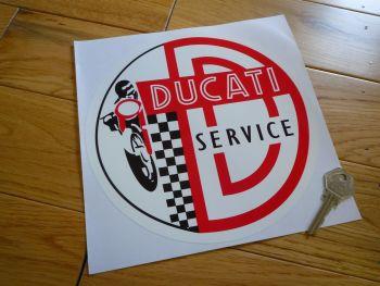 "Ducati Circular Service Sticker. 8""."